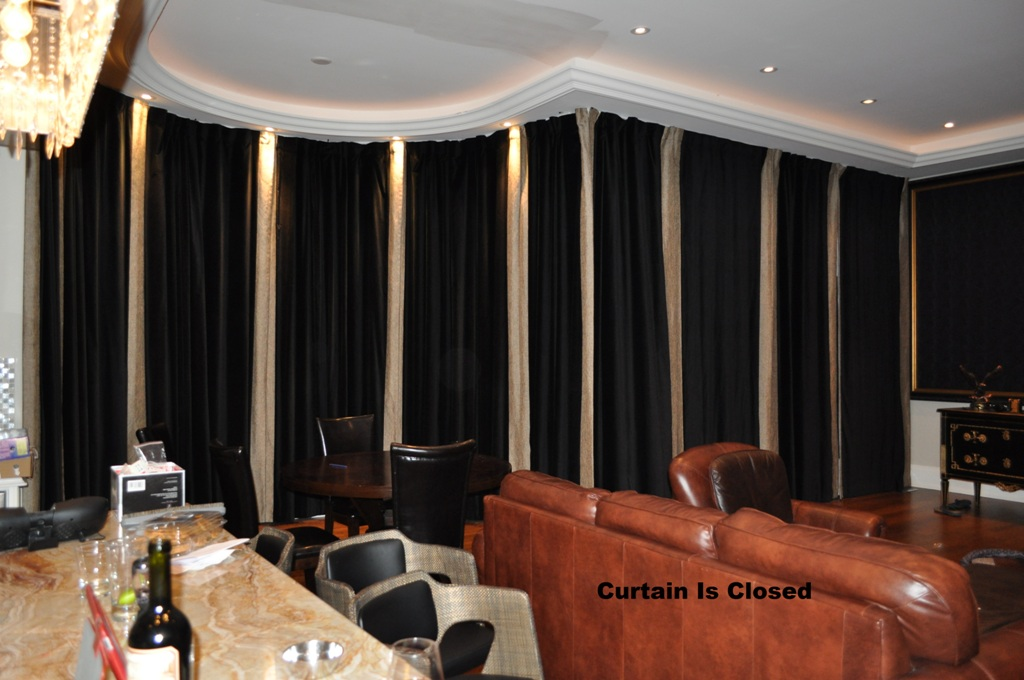 161 Remote Control Electric Power Traverse Curtain Rod