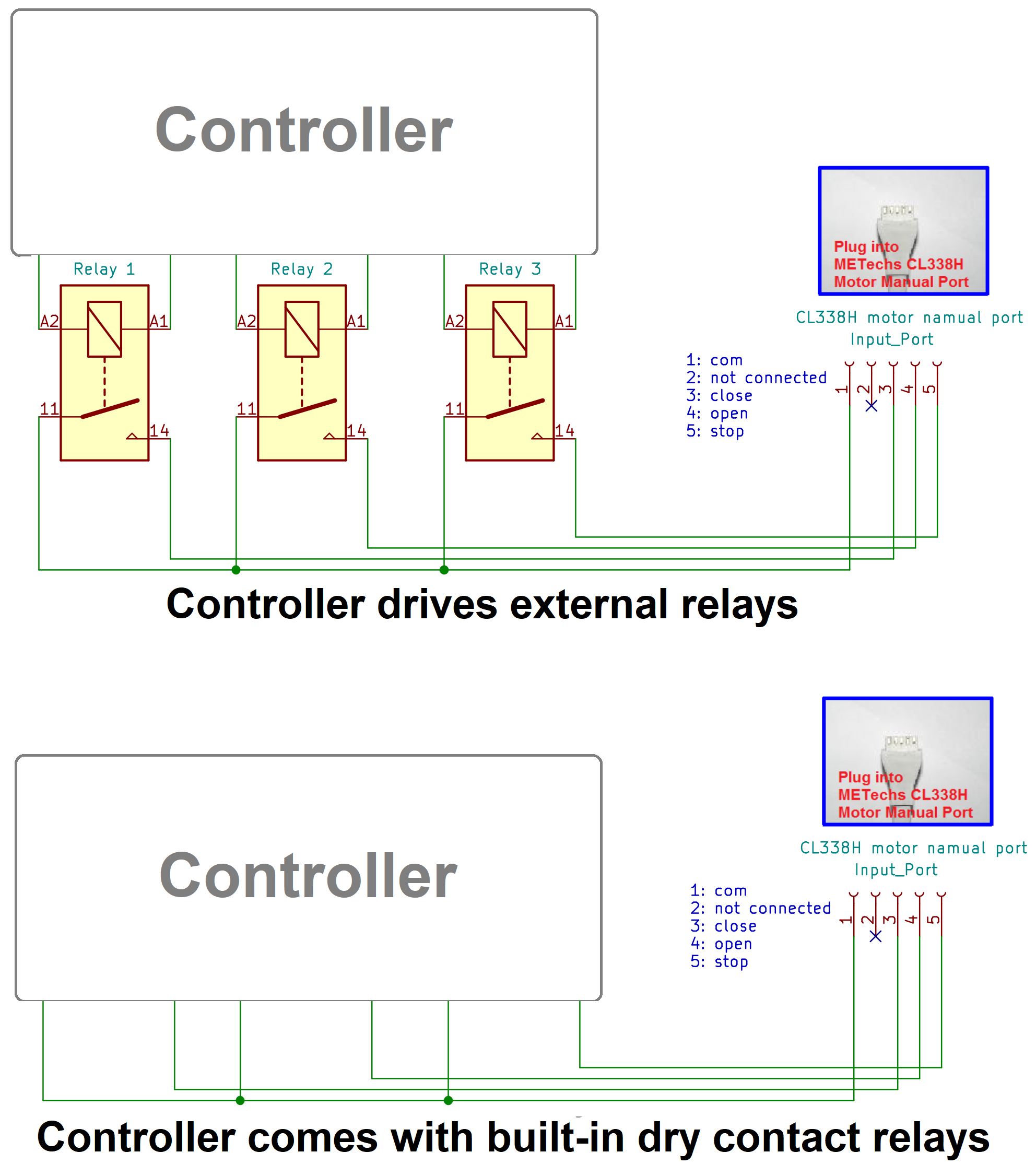 Wiring Diagram For Cl338h Controlled By Third Party